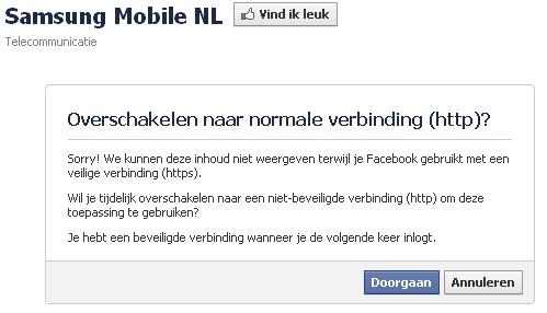 samsung mobile nl facebook https fail